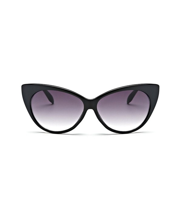 Coolsunny Glasses Vintage Inspired Black Gray