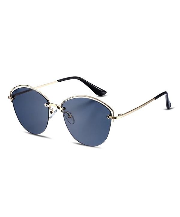 Rimless Polarized Sunglasses Copper Mirrored