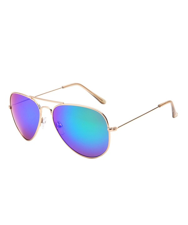 Classic Mirrored Aviator Sunglasses Double