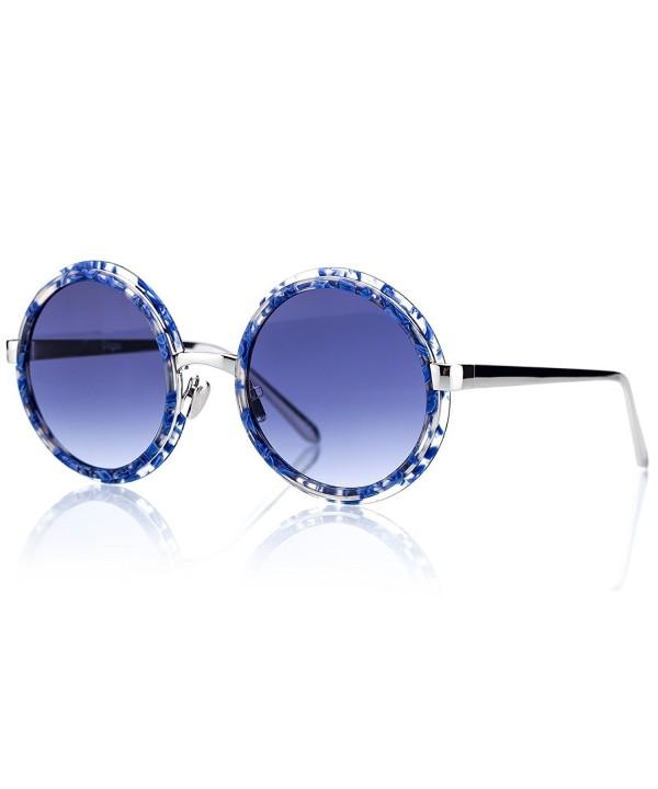 Vintage Acetate Silver Gradient Sunglasses