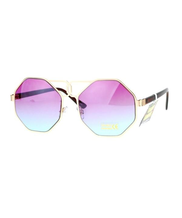 SA106 Octagonal Hippie Oversize Sunglasses