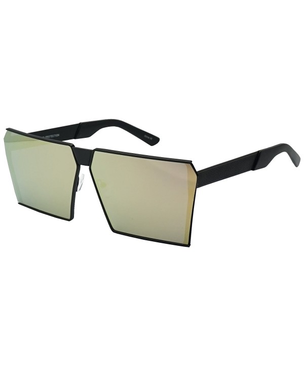 Oversized SquareSleek Mirrored Oceanic Sunglasses