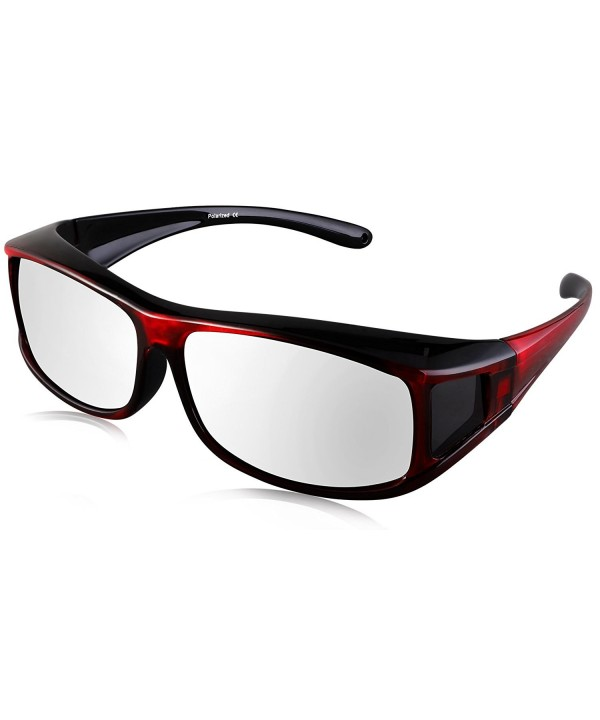 TINHAO Polarized Shield Fitover Sunglasses