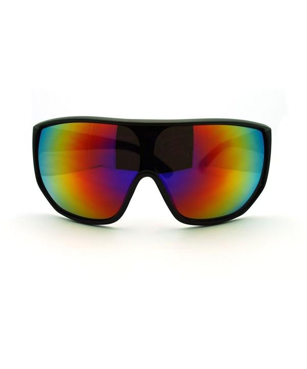Futuristic Oversized Shield Sport Sunglasses