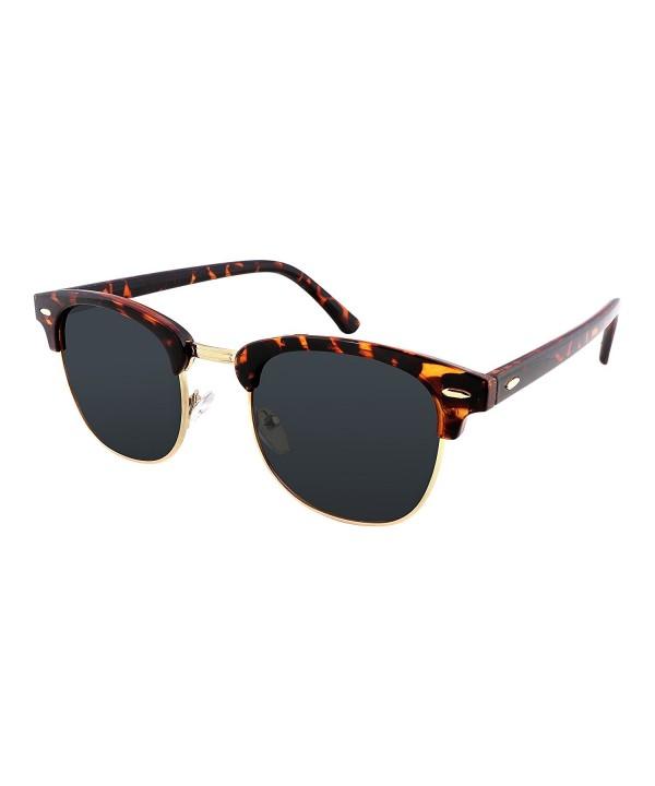 FEISEDY Retro Polarized Sunglasses Tortoises
