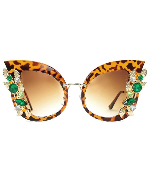 Slocyclub Overstated Jeweled Sunglasses Stylish