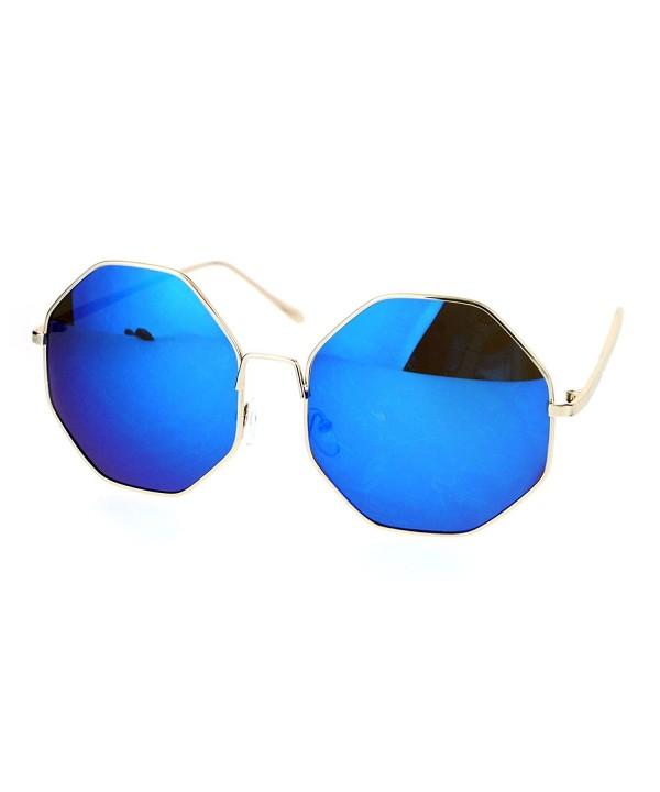 SA106 Mirrored Oversize Octagon Sunglasses