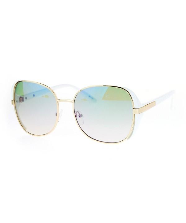 SA106 Rectangular Oversize Butterfly Sunglasses