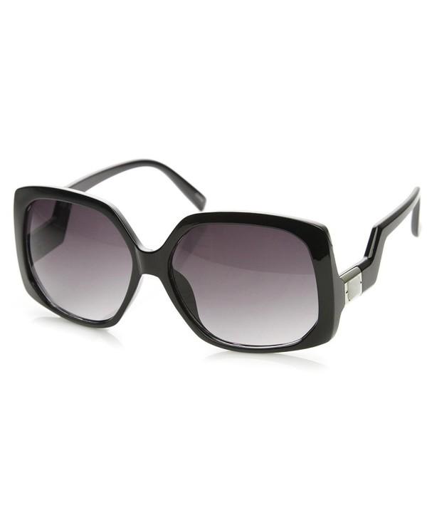 zeroUV Womens Oversized Sunglasses Black Silver