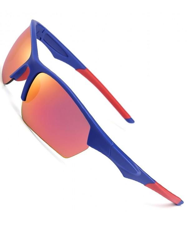 CAXMAN Outdoor Sunglasses Mirrored Polycarbonate