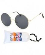 Style Vault Oversized Sunglasses Gold dark