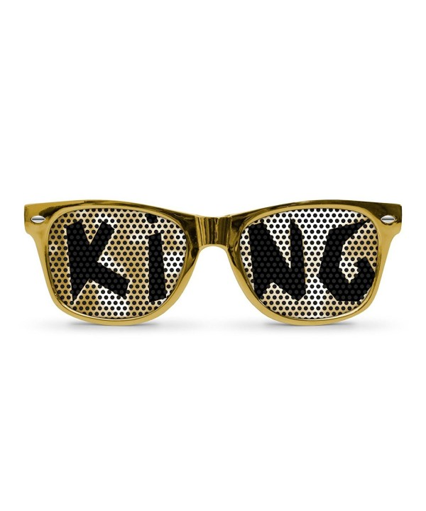 KING Gold Retro Party Sunglasses