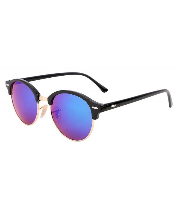 FEISEDY Classic Semi rimless Plastic Sunglasses
