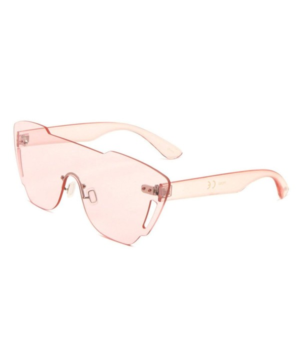Rimless Piece Shield Sunglasses Transparent