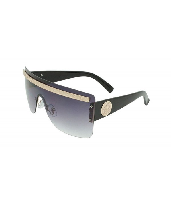Georgio Caponi Rimless Shield Sunglasses