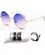 V132 vp Round Sunglasses S1278V Gold Bluish