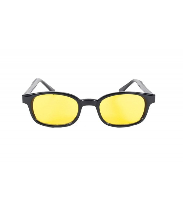 Black Frame Yellow Wayfarer Sunglasses