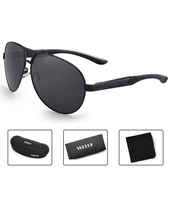 WELUK Oversized Sunglasses Polarized Protection