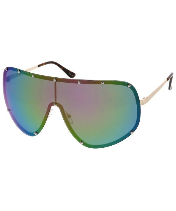 sunglassLA Futuristic Oversize Mirrored Sunglasses