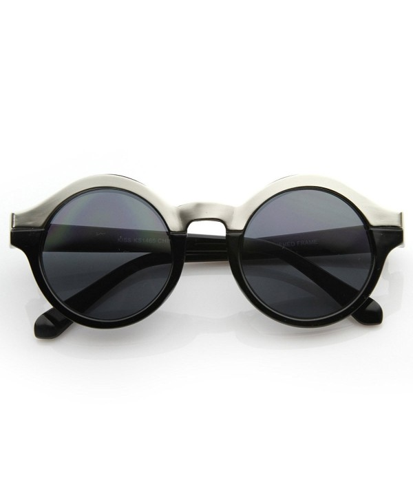 zeroUV Vintage Inspired Sunglasses Black Silver