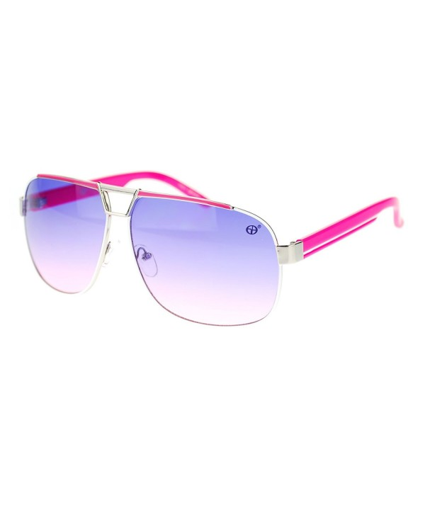 Metal Fashion Light Aviator Sunglasses
