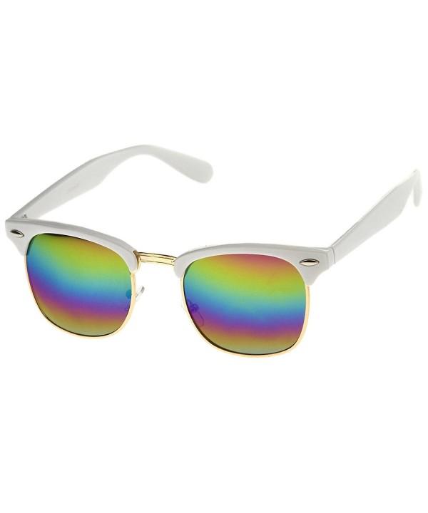 zeroUV Semi Rimless Rimmed Sunglasses Rainbow