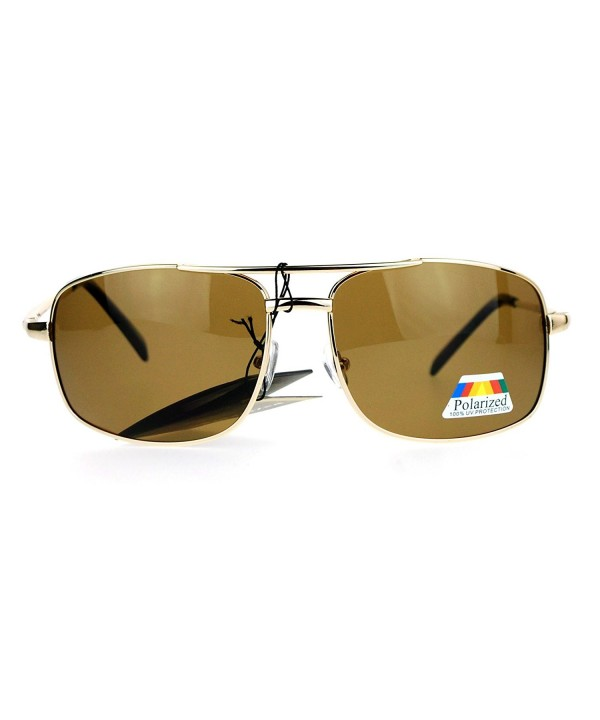 SA106 Polarized Rectangular Navigator Sunglasses