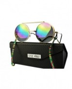 V170 fc Django Sunglasses Gold oil rainbow