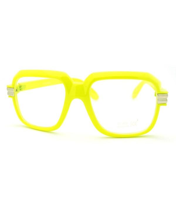 Yellow Oversized Glasses Fashion Eyewear