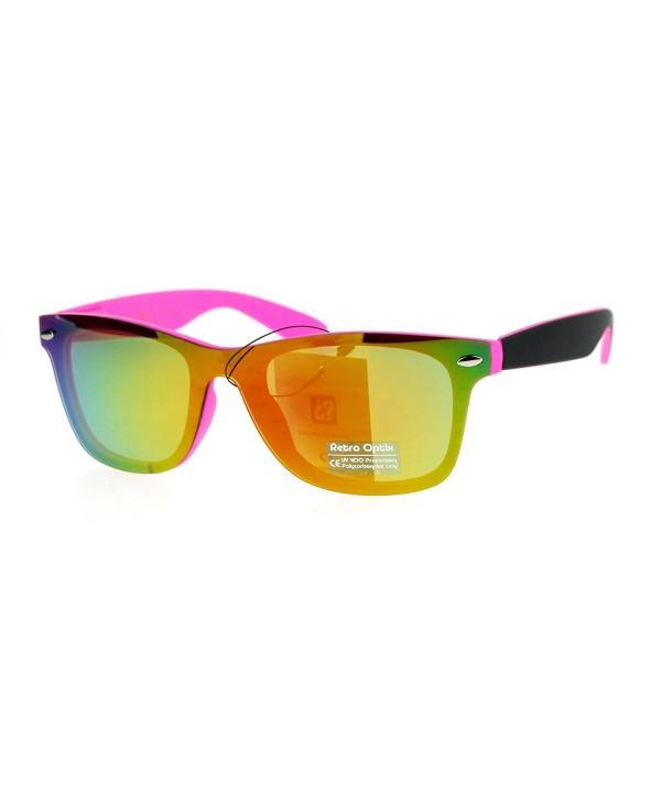 Rimless Style Sunglasses Square Mirror
