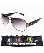 A153 KP Brand Aviator Sunglasses Gunmetal