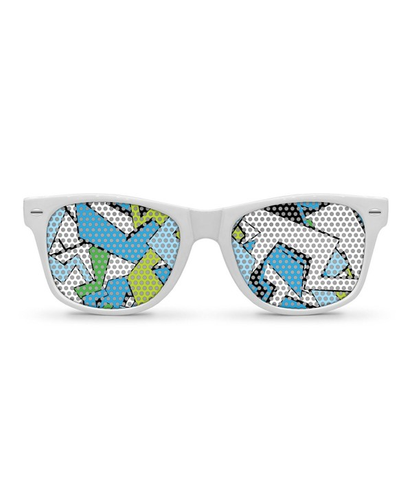 GRAFFITI White Retro Party Sunglasses