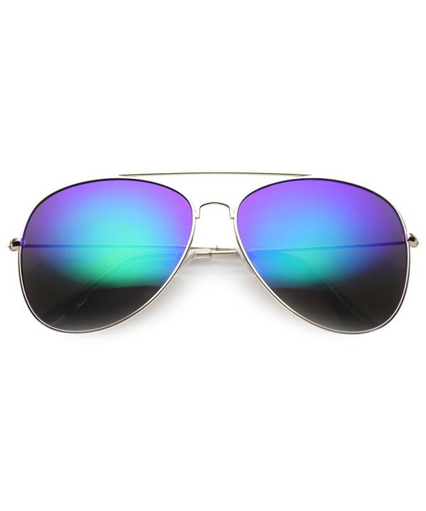 zeroUV Mirror Aviator Sunglasses Midnight