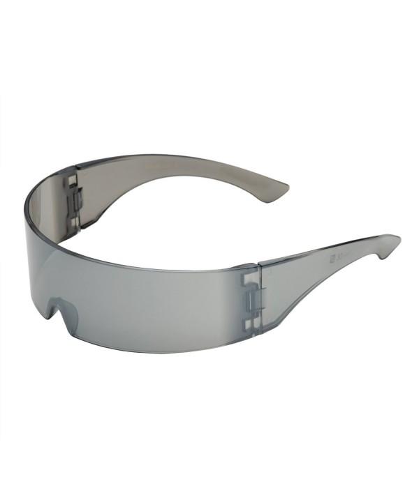 grinderPUNCH Silver Futuristic Sunglasses Glasses