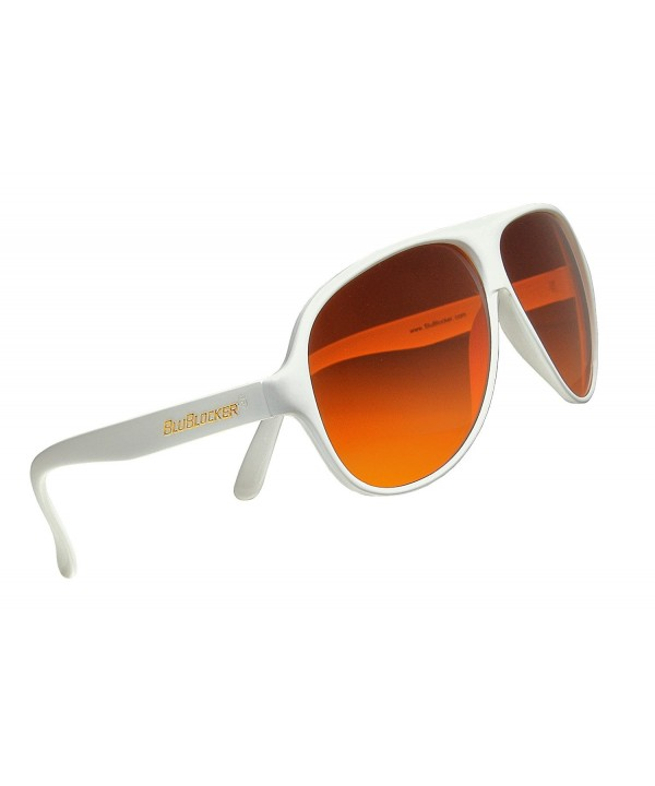 Official BluBlocker White Aviator Sunglasses