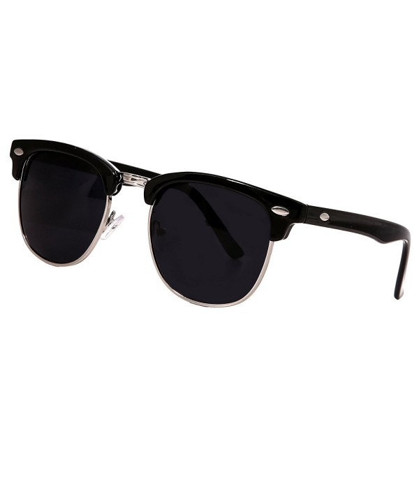 COCOKOEY Semi Rimless Mirrored Sunglasses Reflective