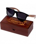 WOODIES Walnut Wayfarer Sunglasses Display