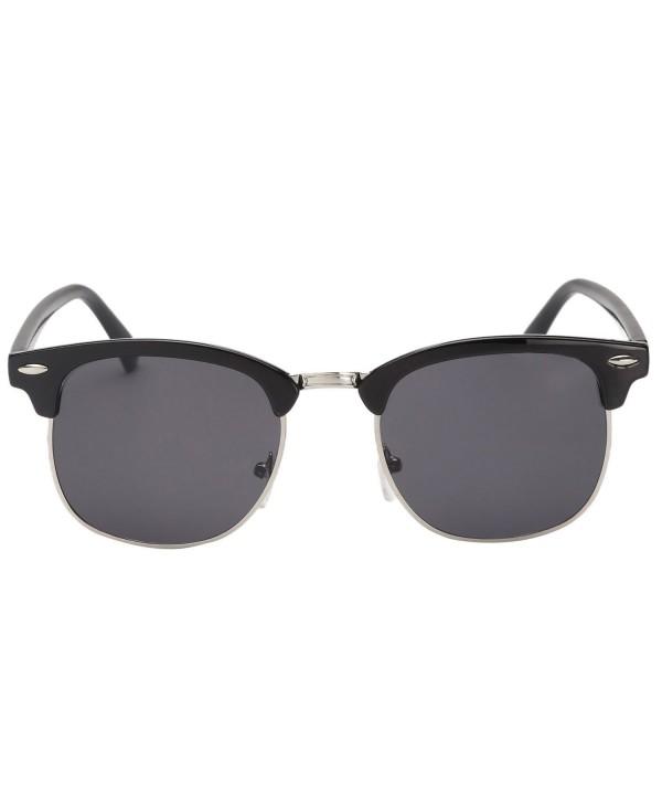 Classic Semi Rimless Rimmed Sunglasses Clubmaster