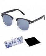 EVEE Semi Rimless Clubmaster Sunglasses MICROFIBER