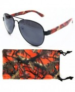 Camouflage Aviator Sunglasses Outdoors Microfiber
