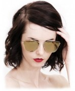 O2 Mirrored semi rimless Sunglasses Lightweight