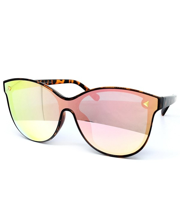 O2 Oversize Wraparound Semi Rimless Sunglasses