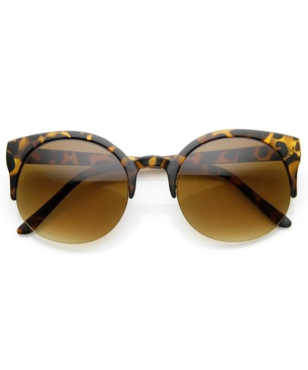 zeroUV Semi Rimless Rimmed Sunglasses Tortoise