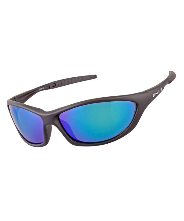 ZHILE Unbreakable Sunglasses protection Blue Green