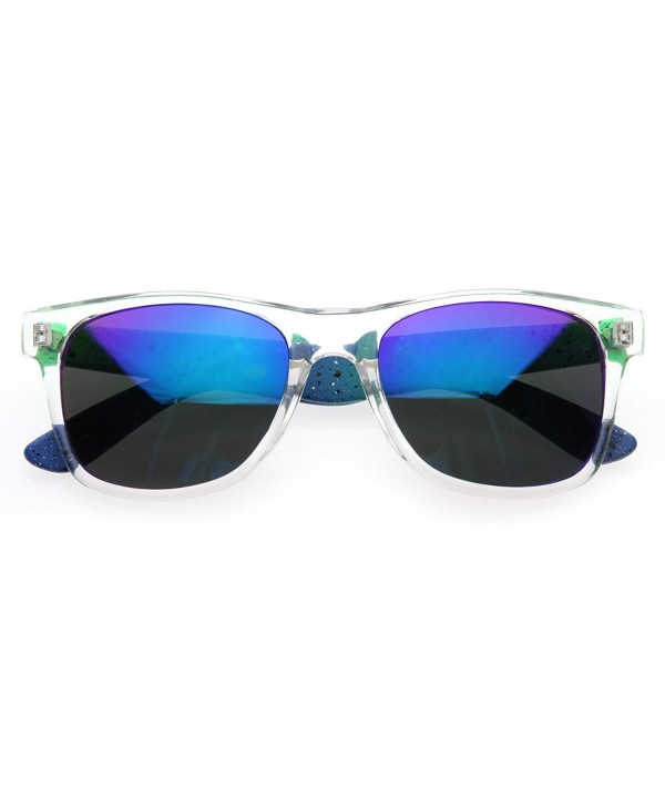 zeroUV Splatter Plasma Sunglasses Green Blue