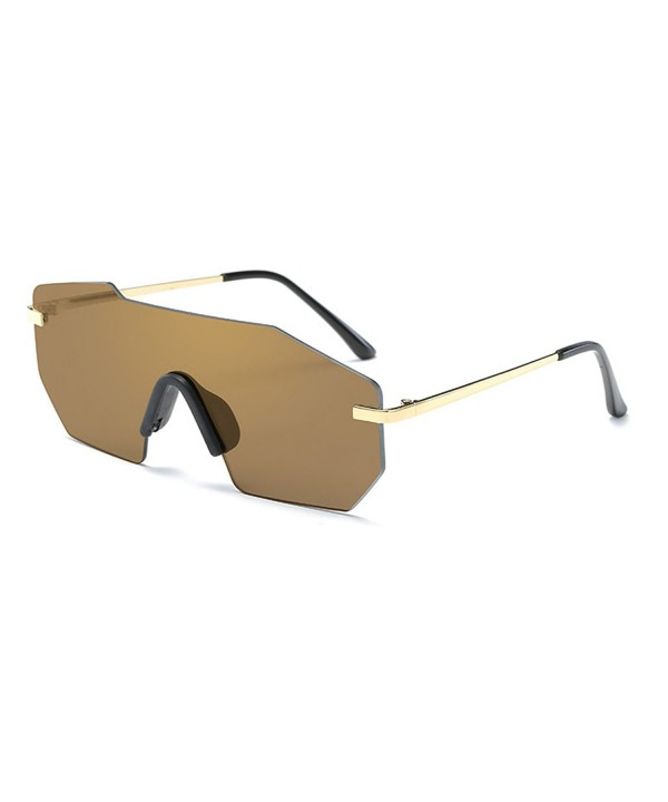 TIJN Rimless Shield Futuristic Sunglasses