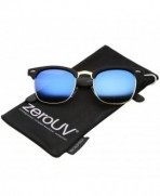 zeroUV Rubberized Polarized Sunglasses Black Gold