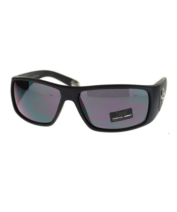 Matte Hardcore Gangster Rectangular Sunglasses
