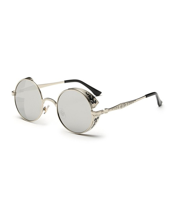 Coolsunny Vintage Hippie Sunglasses Silver Silver