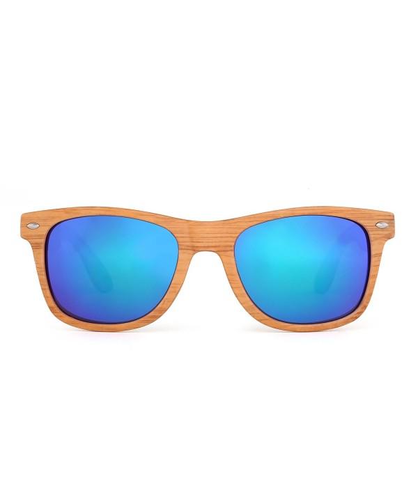 6a623ee0f Retro Mirror Wayfarer Sunglasses Reflective Lens Spring Hinge Temple ...